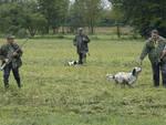 caccia cacciatori con cane
