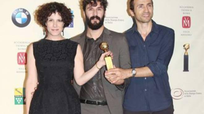 globo d'oro - Cecilia Dazzi e Sergio Albelli con al centro Stefano Chiodini