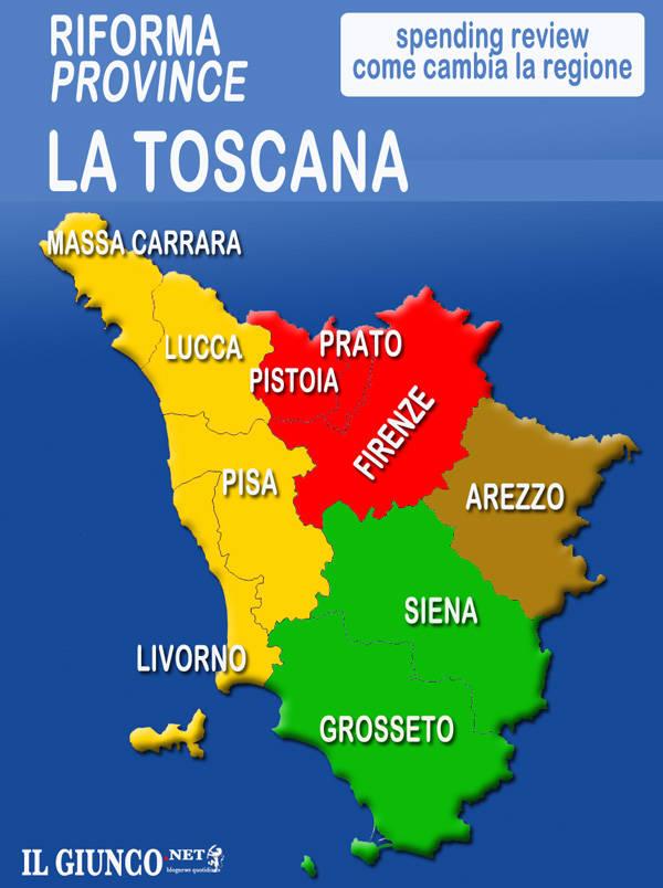 Cartina Regione Toscana Con Province.Riforma Province Il Governo Ha Deciso Grosseto E Con Siena In Maremma Il Capoluogo La Mappa Della Toscana Ilgiunco Net