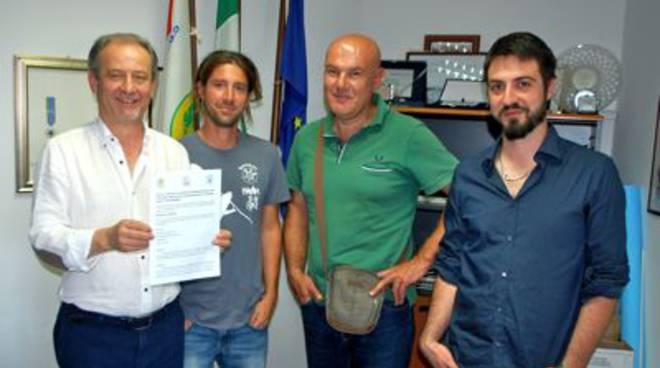 Luciano Monaci, Maurizio Zaccherotti, Luca Bececco e Giulio Donnini