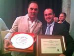 mimmo-de-gregorio (Trattoria Lo Stuzzichino) e Sergio Bucci (direttore della Cantina dei Vignaioli del Morellino di Scansano)