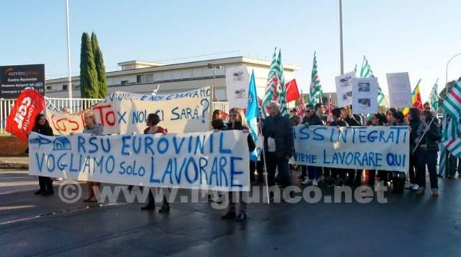 Eurovinil corteo protesta