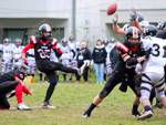 football americano i veterans grosseto in azione di gioco a massa