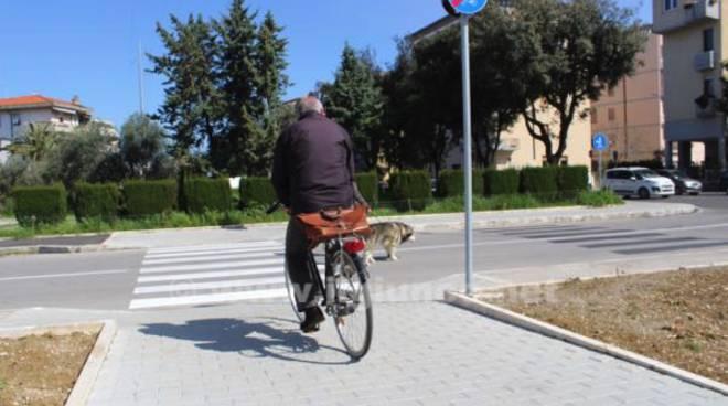 ciclabile tiro a segno bicicletta