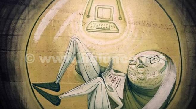 Zed1 murales con contestatore