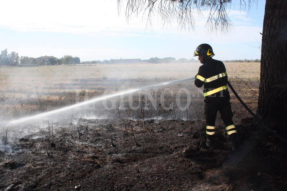 Incendio Grosseto Nord zona industriale Vigili del Fuoco