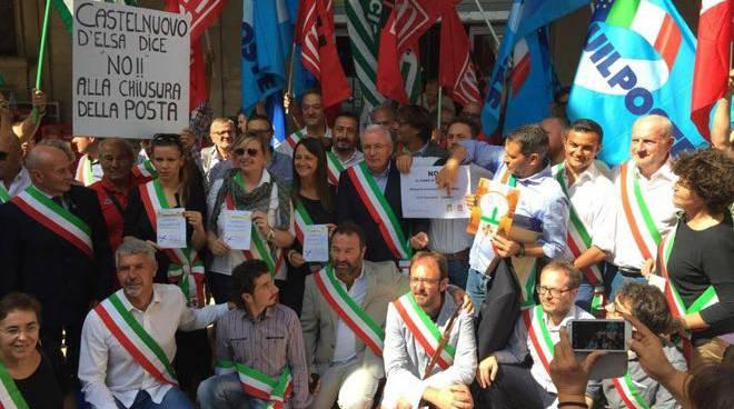 Manifestazione Poste Firenze 2015