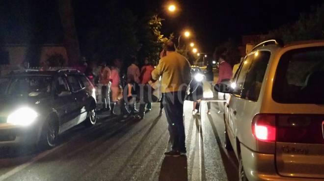 Protesta migranti Castellaccia 2015