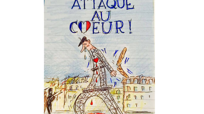 Disegno De Sensi attentati Parigi