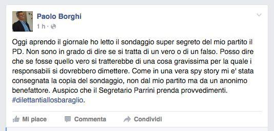 Post Facebook Borghi