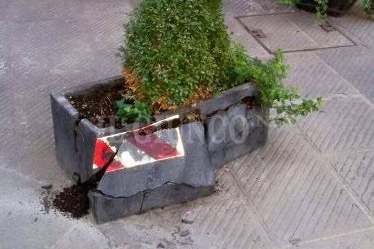 vandali nel centro storico di Grosseto
