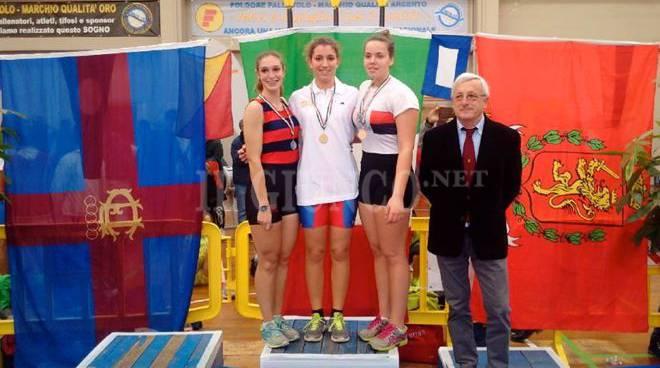 Scarinci podio Canottieri Orbetello