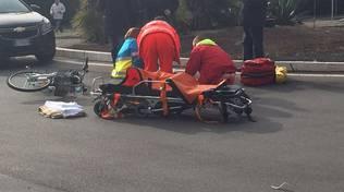 Caduta ciclista via Uranio 2016