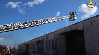 Incendio zona industriale - febbraio 2016