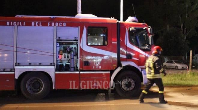 Incidente Aurelia Nord (Febbraio 2016) vigili fuoco notte