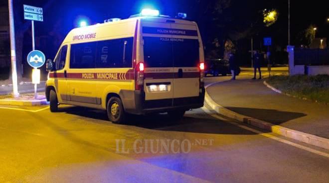 incidente rotonda Castiglionese 2016 Polizia municipale