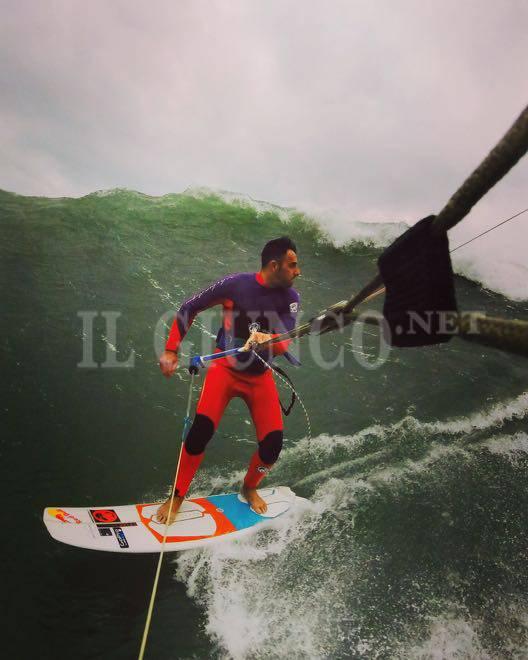 kite surf mareggiata