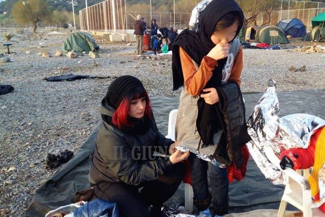 Migranti volontaria Grecia Alessandra Salvaterra