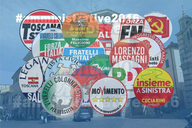 #ElezioniGrosseto16: tutti i simboli dei partiti