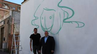 graffito sede Vivarelli Colonna