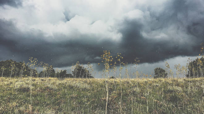 pioggia sul Monte Calvo