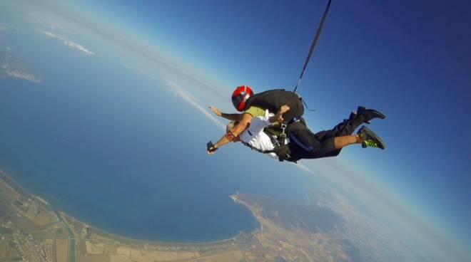 Chef lancio con il paracadute