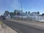 Incendio Aurelia entrata Gr luglio 2016