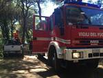 Incendio via Platani luglio 2016