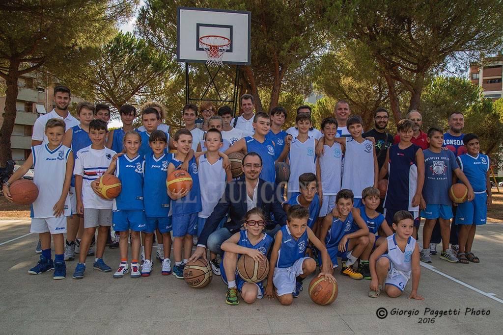 Inaugurazione campo Basket 167
