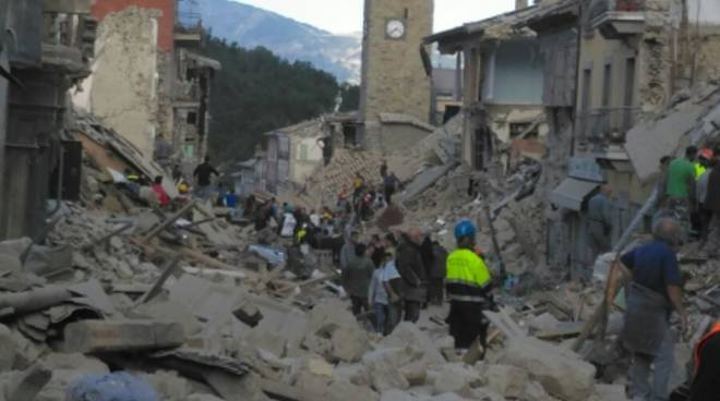 Terremoto Amatrice agosto 2016