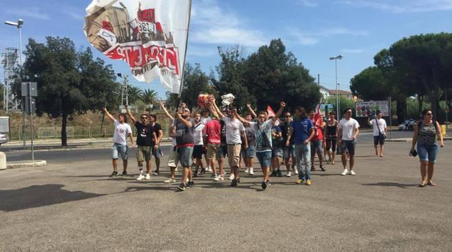 Corteo di protesta dei tifosi 2016