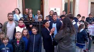 Protesta scuola Montieri 2016