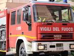 Incendio appartamento Alberino