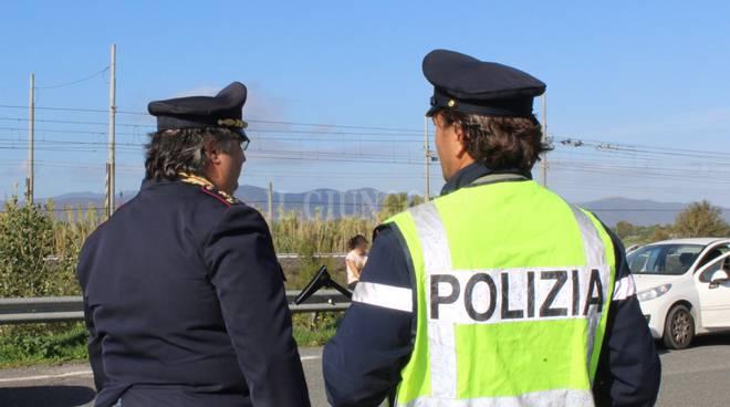 Posto blocco polizia stradale
