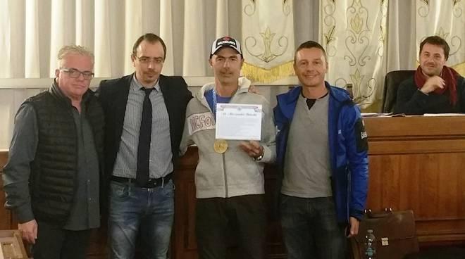 Bricchi Alessandro premiato in Comune a Follonica