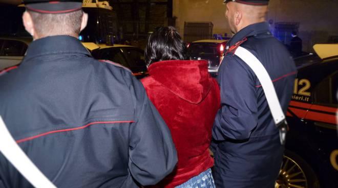 Donna arrestata Carabinieri