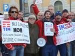 Protesta dei lavoratori Tim