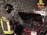 Incendio auto Montegiovi
