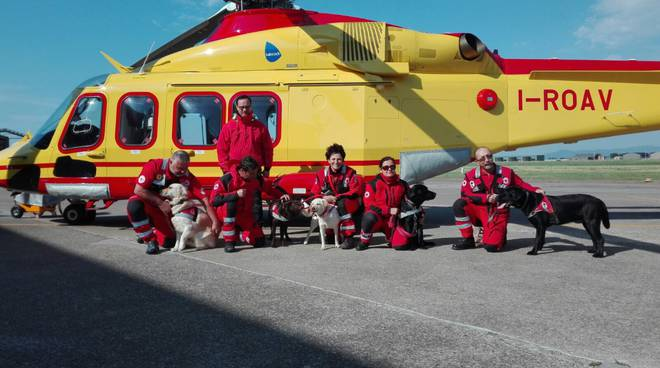 Cani unità cinofile Croce Rossa