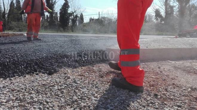 asfalto lavori pubblici inaugurazione strada Casteani