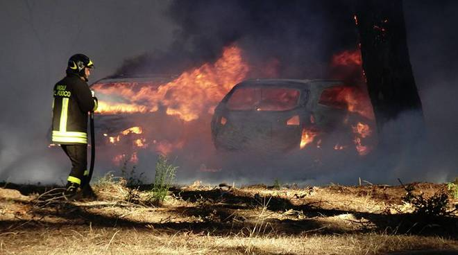 Incendio Marina luglio 2017