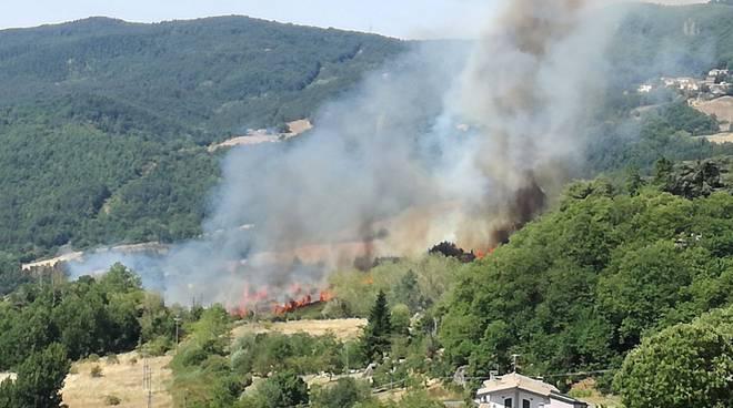 Incendio Piancastagnaio 21 luglio 2017