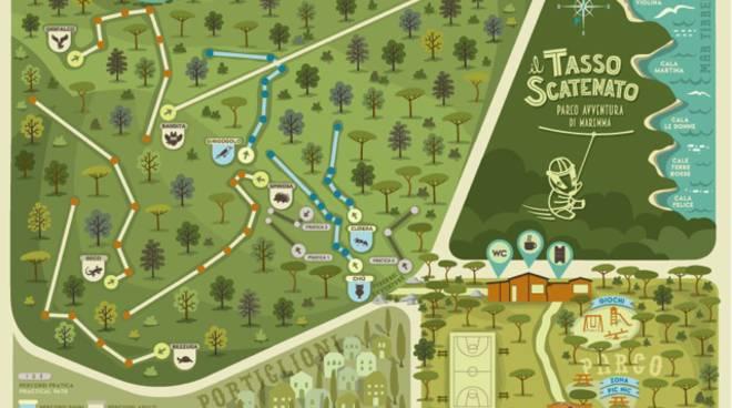 Estremamente Nuovo Parco avventura alle Bandite di Scarlino: percorsi sugli  CC57