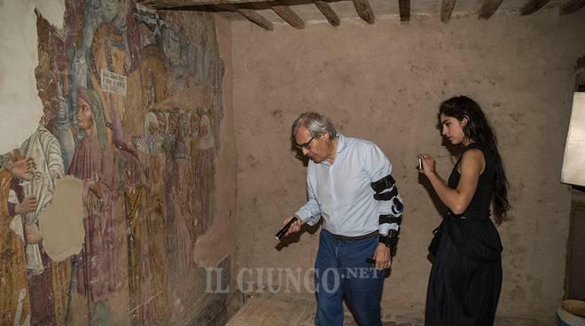 Vittorio Sgarbi e l'affresco 2017