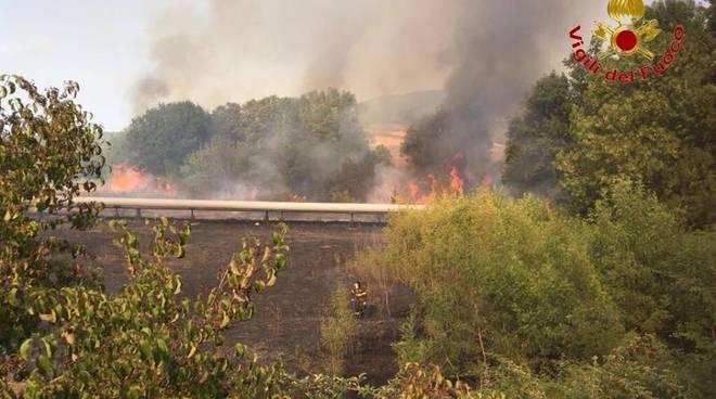 Incendio 3 agosto Pomarance