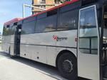 Autobus Tiemme in fumo a Groseto 29 settembre 2017