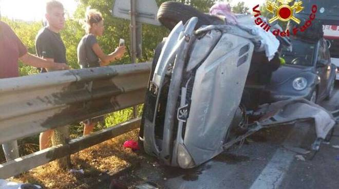 incidente stradale aurelia 2 settembre 2017