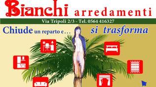 locandina Bianchi arredamenti