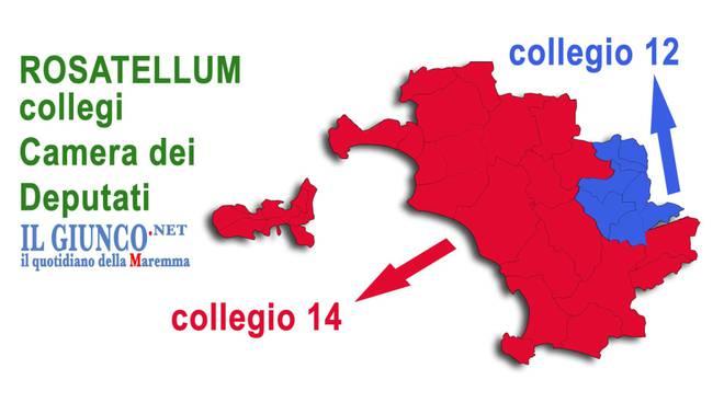 mappa Rosatellum collegio