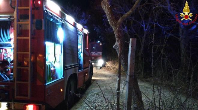 Incendio Poggio Murella dicembre 2017